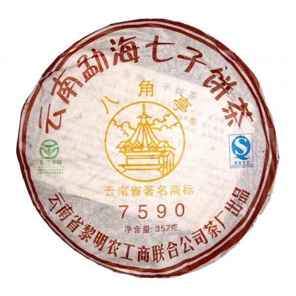 Пуэр Шу «7590» Ба Цзяо Тин  2007г.