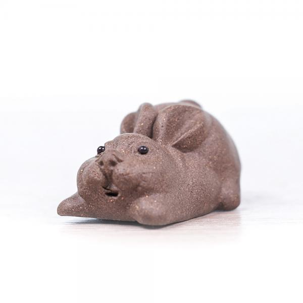 Чайная фигурка «Зайка» серый 3 см фото