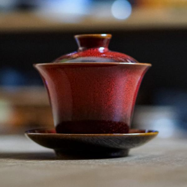 Гайвань «Красное солнце» керамика 150мл