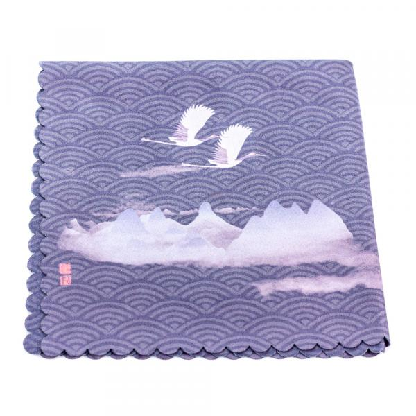 Чайное полотенце «Журавли в горах» 30×30 см фото