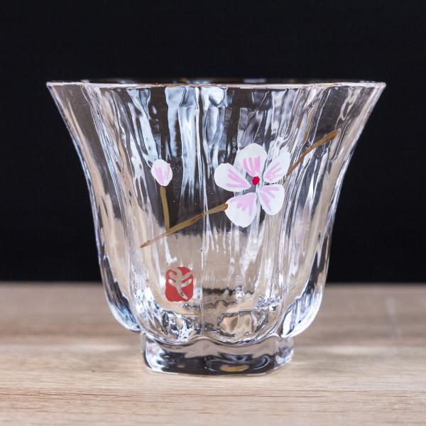 Чашка «Цветущая сакура» стекло (ручная роспись) 50 мл фото