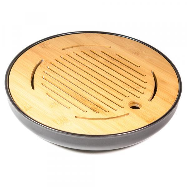 Чайная доска (чабань) «Чёрный круг» меламин 25 см фото