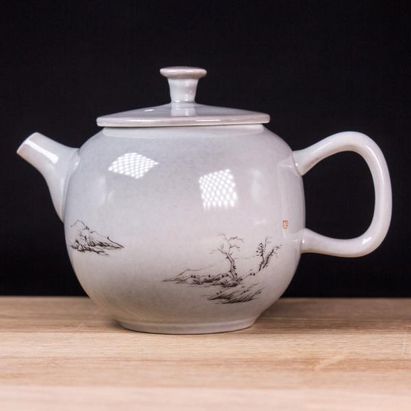 Заварочный чайник «Умиротворенный 266» тонкостенная керамика 150 мл (ручная роспись) фото