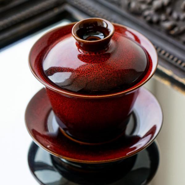 Гайвань «Красное солнце» керамика 150 мл фото