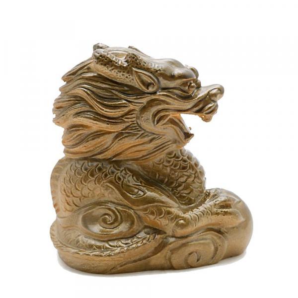 Чайная фигурка Дракон Золотой меняющий цвет фото