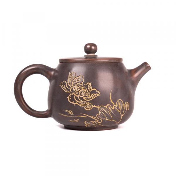 Заварочный чайник «Да Коу 221» циньчжоуская керамика 280 мл (ручная работа) фото