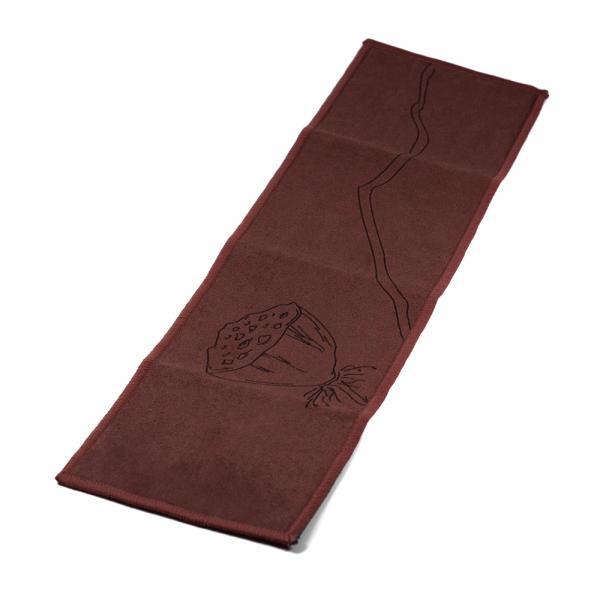 Чайное полотенце «Коробочка лотоса» тёмное 10х37 см фото