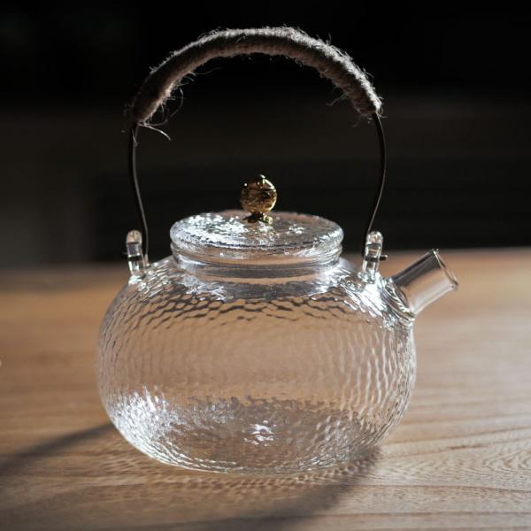 Чайник из закаленного стекла огнеупорный 650 мл фото