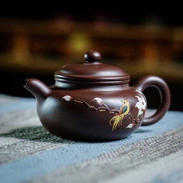 Исинский чайник «Фан Гу Лотос и птица» 190 мл фото