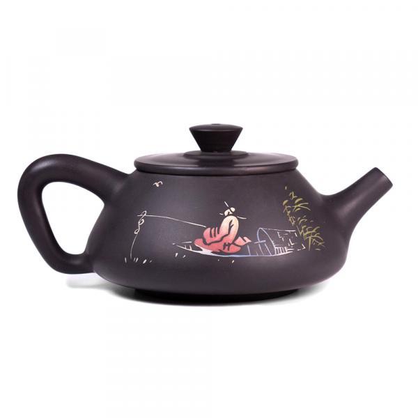 Заварочный чайник «Ши Пяо 250» цзяньшуйская керамика 200 мл (ручная работа) фото