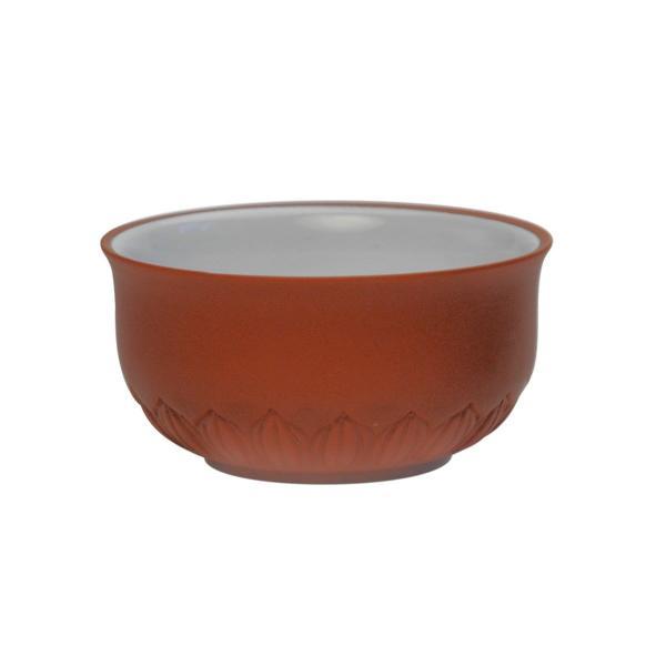 Чашка для чая лотос из красной глины