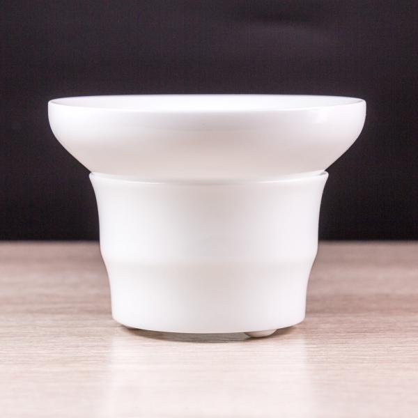 Сито для чая «Белое» на подставке фото