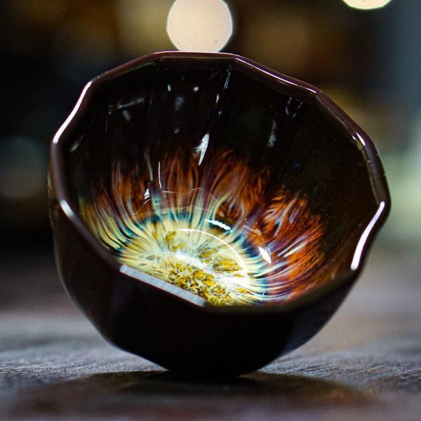 Пиала «Огненный цветок» керамика 100 мл фото