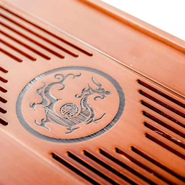 Чайная доска (чабань) «Черный дракон» 38×15см