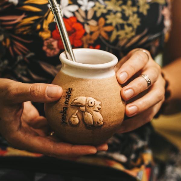 Калабас для мате «Птичка Тукан» 220 мл фото