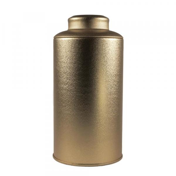 Баночка для чая «Золотая» 8,5х17см