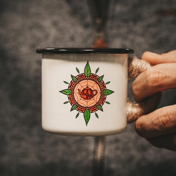 Эмалированная кружка «Чайный компас» от Чайной мастерской 250мл