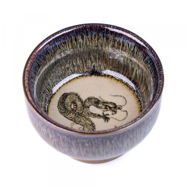 Пиала «Мудрый Дракон» глина и глазурь 60 мл фото