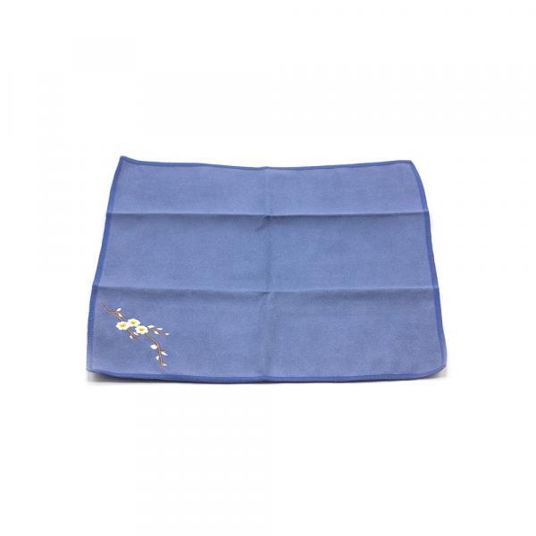 Чайное полотенце «Цветущая камелия» синее 30х30см