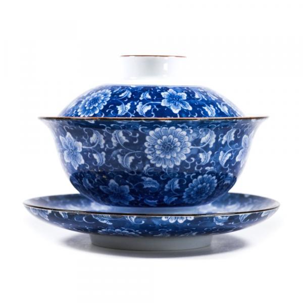 Гайвань «Синие цветы» фарфор 150 мл фото