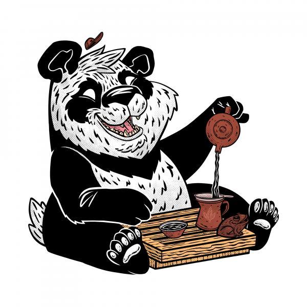 Чайный стикер № 7 «Бодрая Панда 2» фото