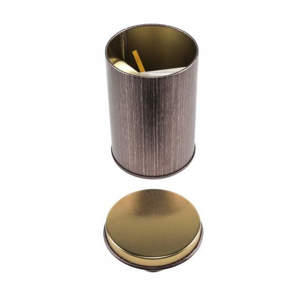 Баночка для чая «Бордовая» 7,5×13см