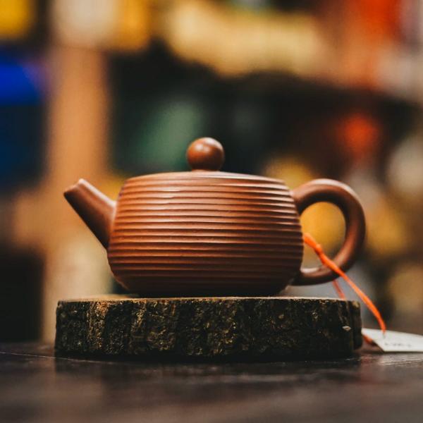 Исинский чайник «Ши Пяо Радиальный» из исинской глины 110 мл фото