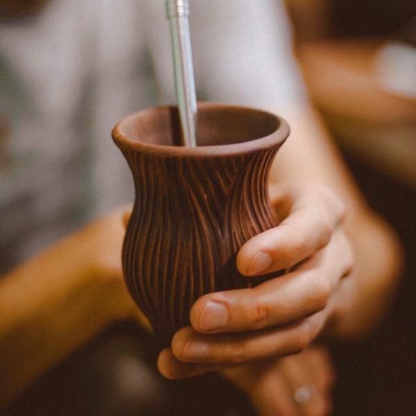 Калабас для Йерба Мате глина Древо фото