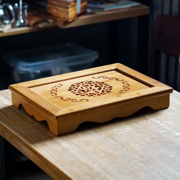 Чайная доска (чабань) «18» бамбук 29×40 см фото