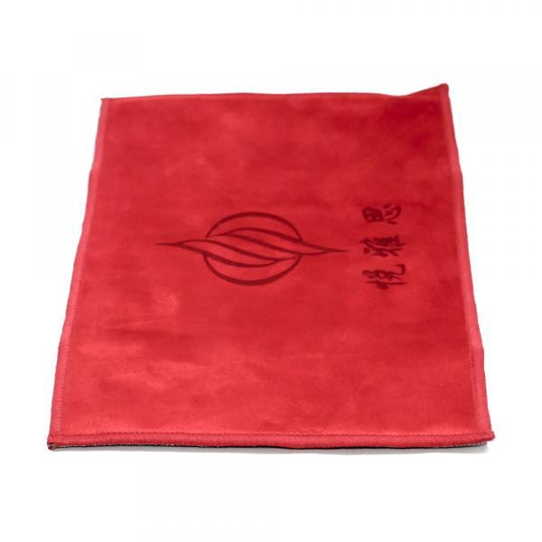 Чайное полотенце «Красные спирали» 18×28см