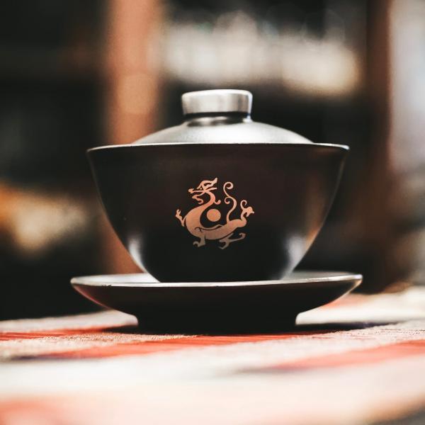 Гайвань «Дракон Сильвер» керамика 190 мл фото
