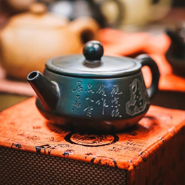 Исинский чайник «Ши Пяо Хэй Ни» из исинской глины 100 мл фото