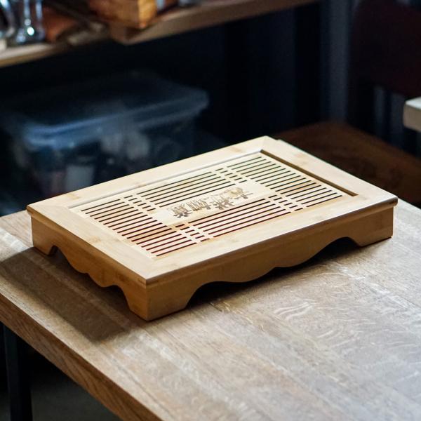 Чайная доска (чабань) «19» бамбук 29×40 см фото