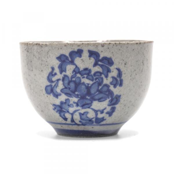 Пиала для чая «Цветение» глина, глазурь 40 мл фото