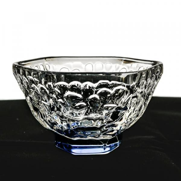 Чашка синяя отбивное стекло 60мл