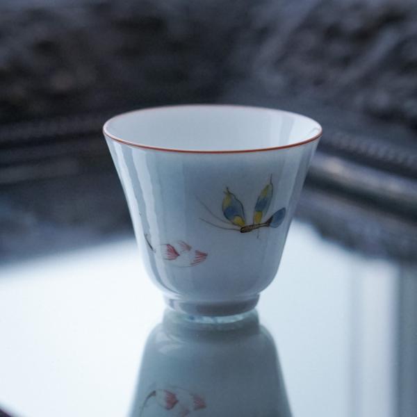 Пиала «Алый цветок» фарфор 50мл