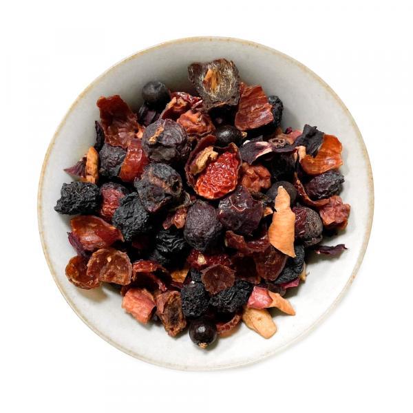 Травяной чай «Ягодный компот» с шиповником и рябиной фото