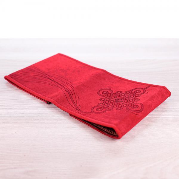 Чайное полотенце «Красное счастье» 10х37 см фото