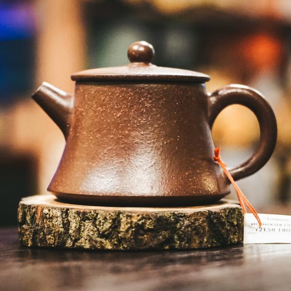 Исинский чайник «Ладья» из исинской глины 180 мл фото