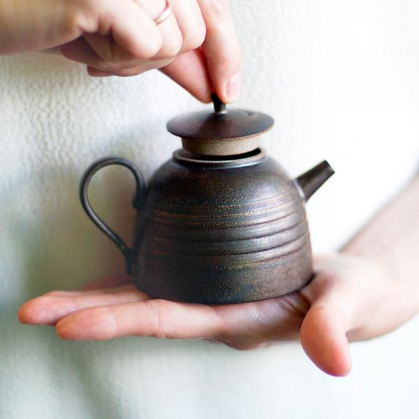 Заварочный чайник «Металлик» тонкостенная керамика 190 мл фото