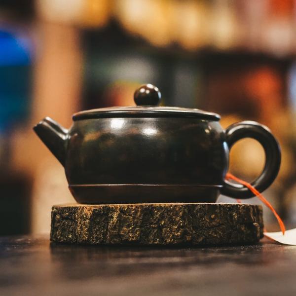 Заварочный чайник «Звонкий» цзяньшуйская керамика 180мл (ручная работа)
