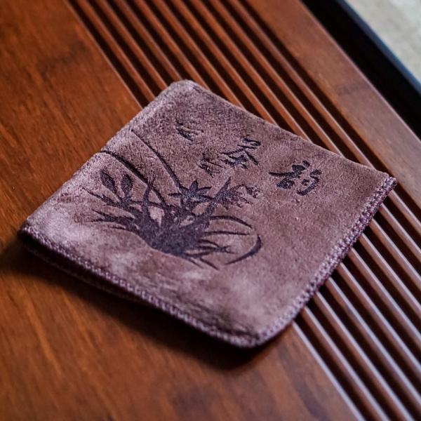 Чайное полотенце «Цветы» 30×28 см фото