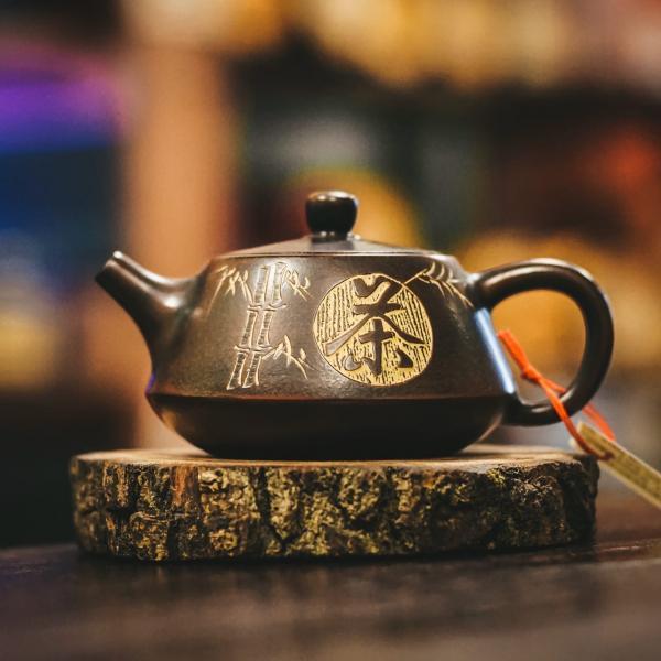 Заварочный чайник «ШиПяо ЧуЦу 269» циньчжоуская керамика 110мл (ручная работа)