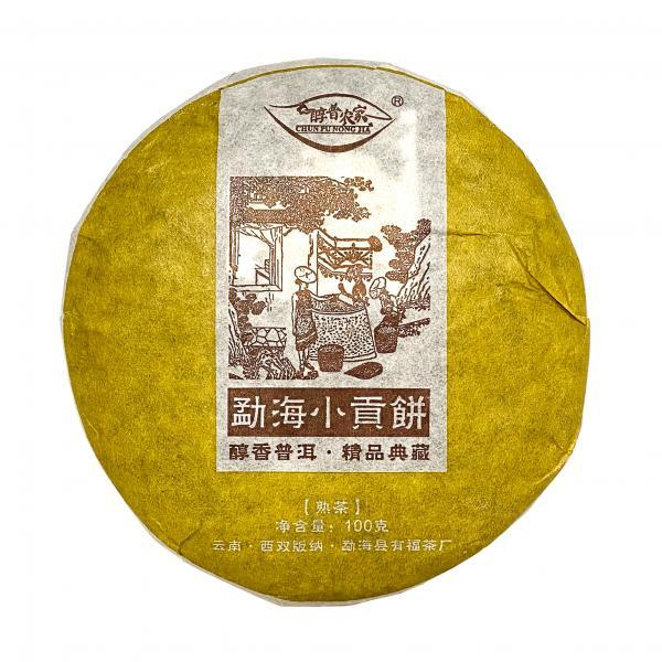 Пуэр Шу «Мэнхайский пломбир» 2015 г фото