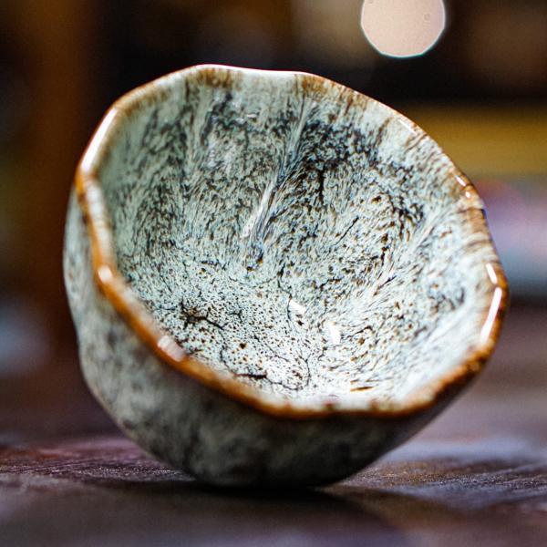 Пиала «Заснеженный вулкан» керамика 100 мл фото