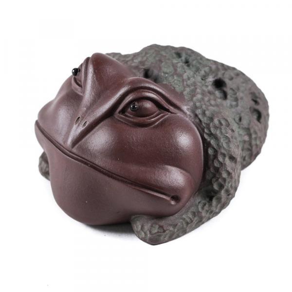 Чайная фигурка из глины жаба хитрая фото