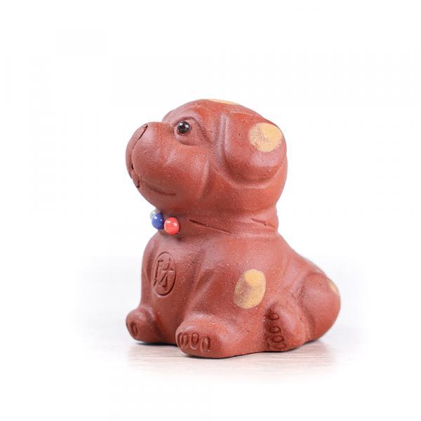 Чайная фигурка «Пятнистый пёс» рыжий 7 см фото