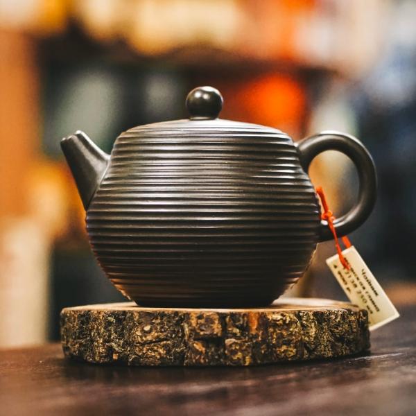 Исинский чайник «Радиальный» из исинской глины 250 мл фото