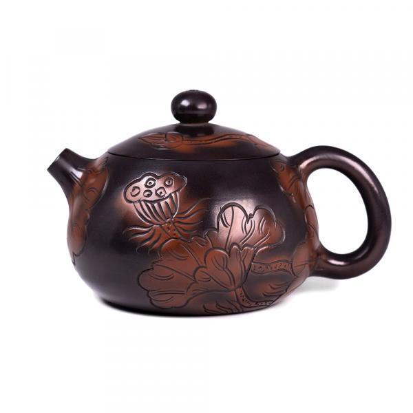 Заварочный чайник «Си Ши 240» цзяньшуйская керамика 210 мл (ручная работа) фото