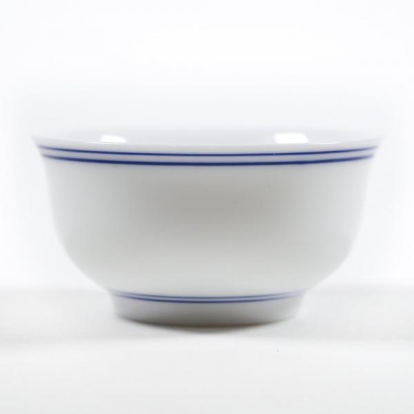 Пиала для чая синяя полоса 40 мл фото